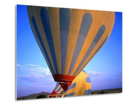 A Hot Air Ballon About to Fly Over the Cappadocia Landscape, Cappadocia, Nevsehir, Turkey-Wes Walker-Metal Print