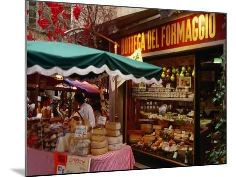 Cheese Stall Outside Cheese Shop on Via Pessina, Lugano, Ticino, Switzerland-Stephen Saks-Mounted Photographic Print
