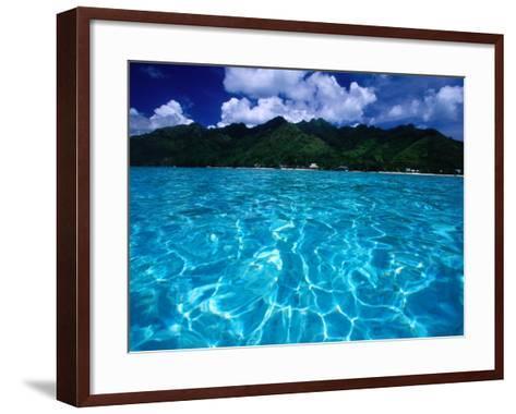 Lagoon in Haapiti, Moorea, the French Polynesia-Paul Kennedy-Framed Art Print