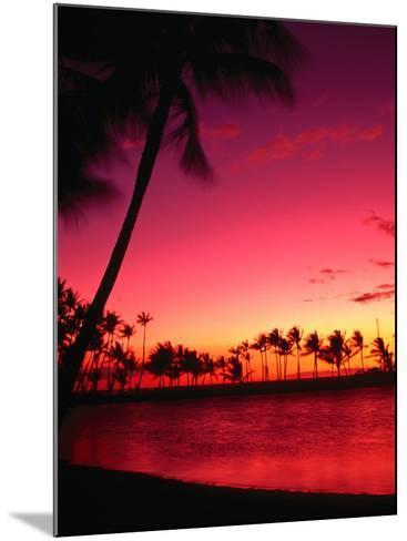 Sunset at Anaehoomalu Beach, Waikoloa, Hawaii, USA-Ann Cecil-Mounted Photographic Print