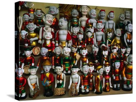Colourful Puppets Used in the Ancient Art of Water Puppetry (Roi Nuoc), Hanoi, Vietnam-Anders Blomqvist-Stretched Canvas Print
