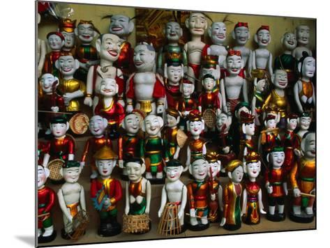 Colourful Puppets Used in the Ancient Art of Water Puppetry (Roi Nuoc), Hanoi, Vietnam-Anders Blomqvist-Mounted Photographic Print