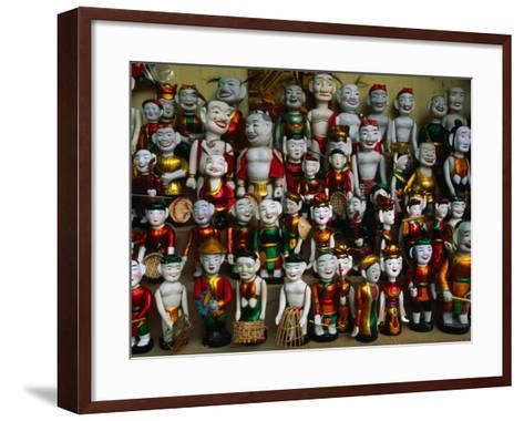Colourful Puppets Used in the Ancient Art of Water Puppetry (Roi Nuoc), Hanoi, Vietnam-Anders Blomqvist-Framed Art Print