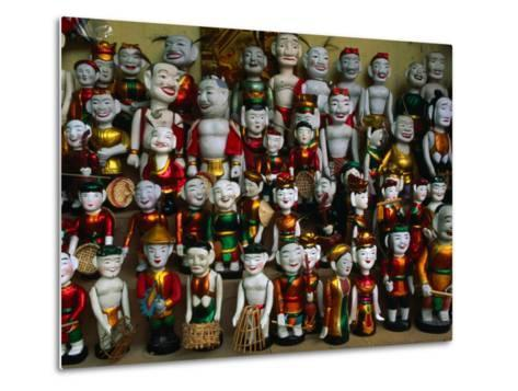 Colourful Puppets Used in the Ancient Art of Water Puppetry (Roi Nuoc), Hanoi, Vietnam-Anders Blomqvist-Metal Print