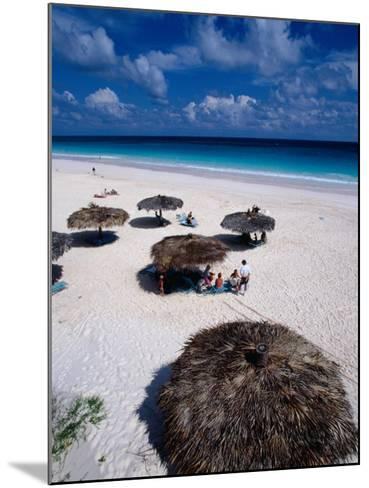 View of Famous Pink Sand Beach, Eleuthera, Pink Sands Beach, Harbour Island, Bahamas-Greg Johnston-Mounted Photographic Print