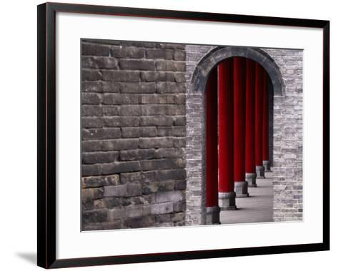 Traditional Architecture of Xianyang Museum, Shaanxi, China-Keren Su-Framed Art Print