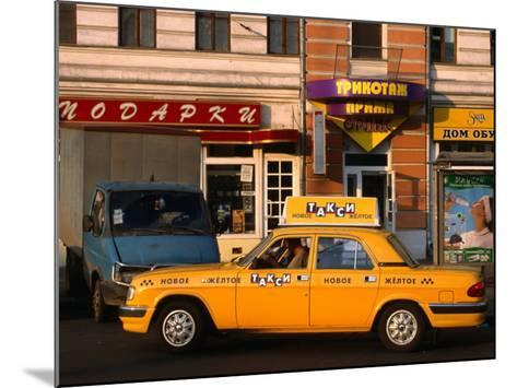 New Yellow Taxi in the Street, Moscow, Russia-Jonathan Smith-Mounted Photographic Print