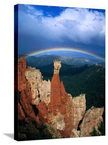Rainbow Over Bryce Canyon, Bryce Canyon National Park, USA-Kevin Levesque-Stretched Canvas Print