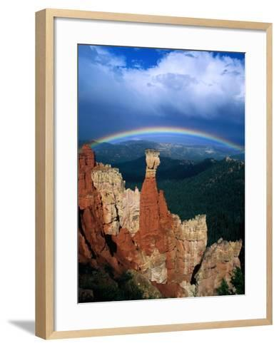 Rainbow Over Bryce Canyon, Bryce Canyon National Park, USA-Kevin Levesque-Framed Art Print