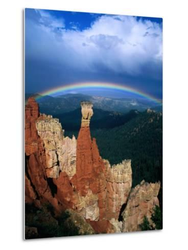 Rainbow Over Bryce Canyon, Bryce Canyon National Park, USA-Kevin Levesque-Metal Print
