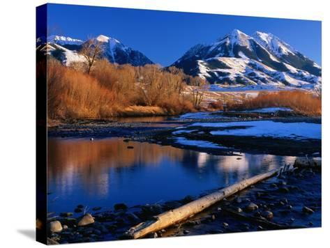 Emigrant Peak in the Absaroka Ranges, Paradise Valley, Montana, USA-Carol Polich-Stretched Canvas Print