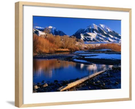 Emigrant Peak in the Absaroka Ranges, Paradise Valley, Montana, USA-Carol Polich-Framed Art Print