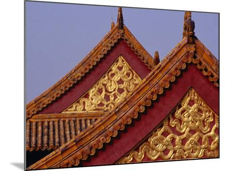Roof Detail of Beijing's Forbidden City Bejing, China-Phil Weymouth-Mounted Photographic Print