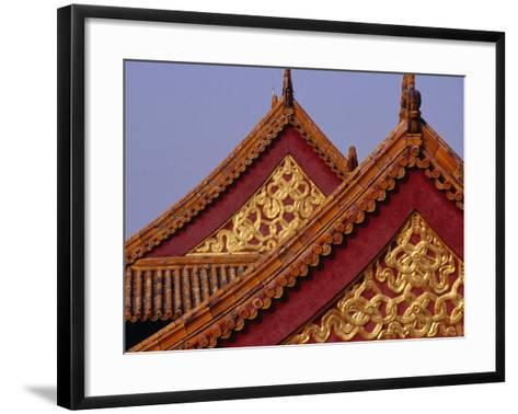 Roof Detail of Beijing's Forbidden City Bejing, China-Phil Weymouth-Framed Art Print