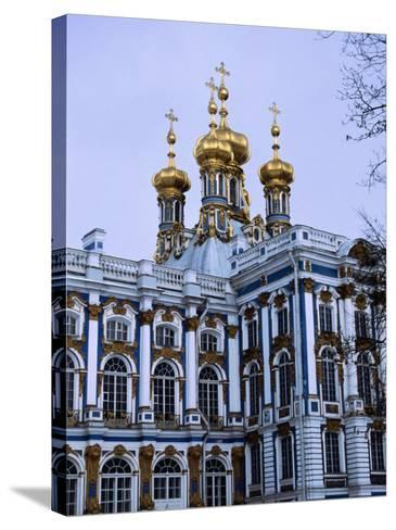 Grand Palace or Catherine Palace in Tsarskoye Selo, St. Petersburg, Russia-Martin Moos-Stretched Canvas Print