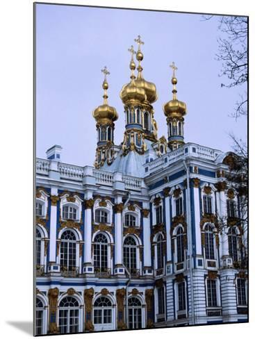 Grand Palace or Catherine Palace in Tsarskoye Selo, St. Petersburg, Russia-Martin Moos-Mounted Photographic Print