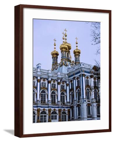 Grand Palace or Catherine Palace in Tsarskoye Selo, St. Petersburg, Russia-Martin Moos-Framed Art Print