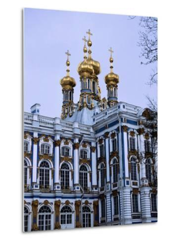 Grand Palace or Catherine Palace in Tsarskoye Selo, St. Petersburg, Russia-Martin Moos-Metal Print