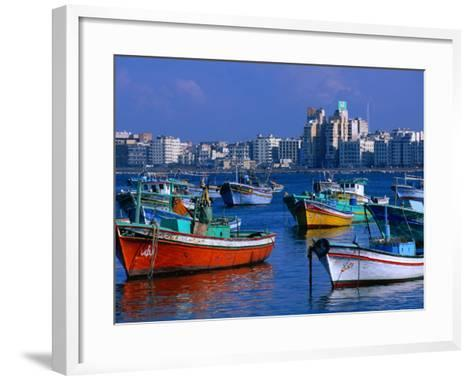 Harbour View with Fishing Boats, Alexandria, Egypt-John Elk III-Framed Art Print