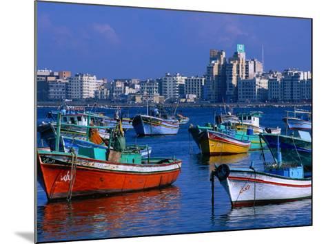 Harbour View with Fishing Boats, Alexandria, Egypt-John Elk III-Mounted Photographic Print