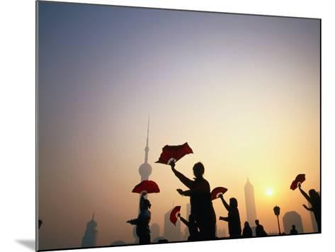 Morning Tai Chi Exercise in the Bund, Shanghai, China-Ray Laskowitz-Mounted Photographic Print
