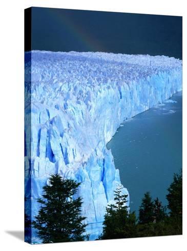 Overhead of Perito Moreno Glacier with Rainbow, Los Glaciares National Park, Argentina-Wes Walker-Stretched Canvas Print