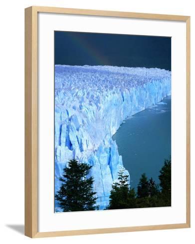 Overhead of Perito Moreno Glacier with Rainbow, Los Glaciares National Park, Argentina-Wes Walker-Framed Art Print