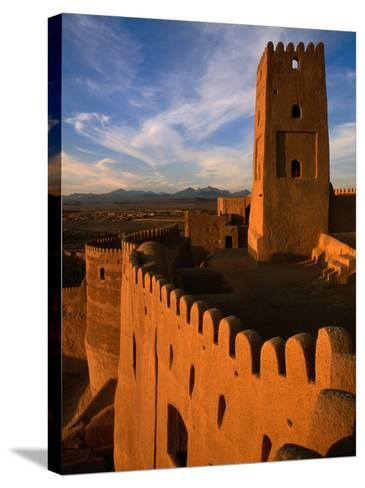 Citadel Tower in 2000 Year Old Arg-E Bam (Bam Citadel), Bam, Kerman, Iran-Mark Daffey-Stretched Canvas Print
