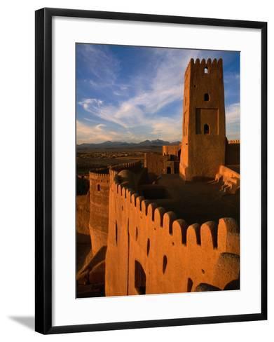 Citadel Tower in 2000 Year Old Arg-E Bam (Bam Citadel), Bam, Kerman, Iran-Mark Daffey-Framed Art Print