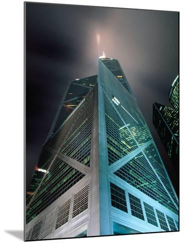 Bank of China at Night, Hong Kong, China-Lawrence Worcester-Mounted Photographic Print