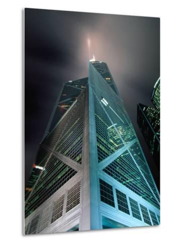 Bank of China at Night, Hong Kong, China-Lawrence Worcester-Metal Print