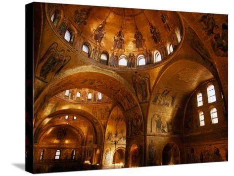 Mosaics of St. Mark's Basilica, Venice, Veneto, Italy-Roberto Gerometta-Stretched Canvas Print
