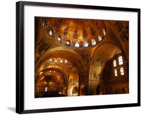 Mosaics of St. Mark's Basilica, Venice, Veneto, Italy-Roberto Gerometta-Framed Art Print