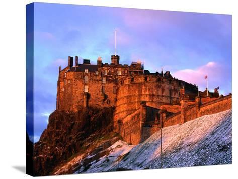 Edinburgh Castle Seen from Johnston Terrace, Edinburgh, United Kingdom-Jonathan Smith-Stretched Canvas Print
