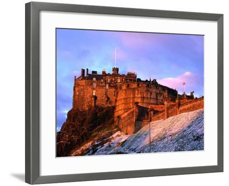 Edinburgh Castle Seen from Johnston Terrace, Edinburgh, United Kingdom-Jonathan Smith-Framed Art Print