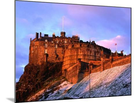 Edinburgh Castle Seen from Johnston Terrace, Edinburgh, United Kingdom-Jonathan Smith-Mounted Photographic Print