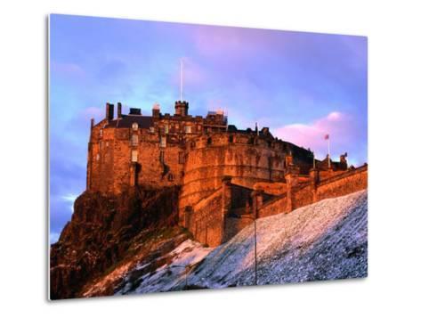 Edinburgh Castle Seen from Johnston Terrace, Edinburgh, United Kingdom-Jonathan Smith-Metal Print
