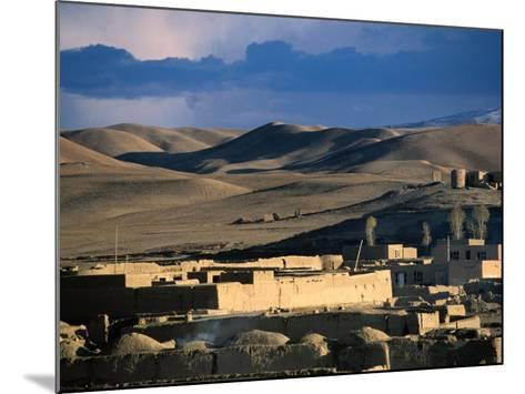 Hills, Mountain and Town by Hari Rud River, Chaghcharan, Afghanistan-Stephane Victor-Mounted Photographic Print