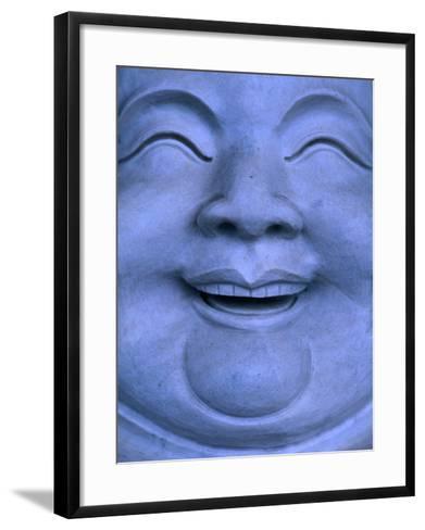 Detail of Buddha statue, Hualien, Taiwan-Martin Moos-Framed Art Print