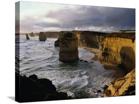 The Twelve Apostles Rock Pinnacles, Port Campbell National Park, Australia-Richard Nebesky-Stretched Canvas Print