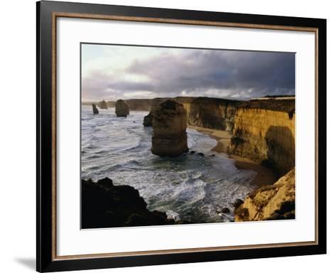 The Twelve Apostles Rock Pinnacles, Port Campbell National Park, Australia-Richard Nebesky-Framed Art Print