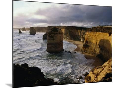 The Twelve Apostles Rock Pinnacles, Port Campbell National Park, Australia-Richard Nebesky-Mounted Photographic Print