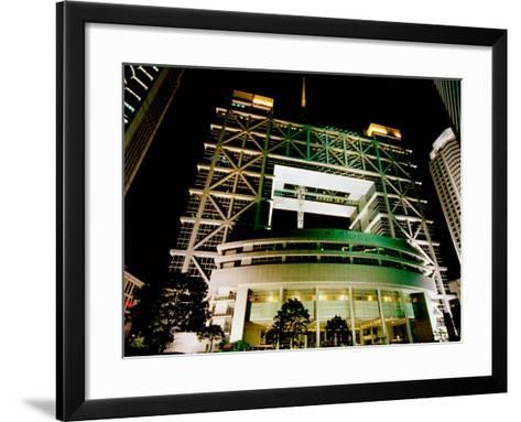 Shanghai Stock Exchange Building, Pudong, Shanghai, China-Krzysztof Dydynski-Framed Art Print