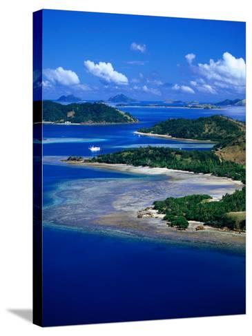 Aerial View of Malolo Island, Fiji-David Wall-Stretched Canvas Print