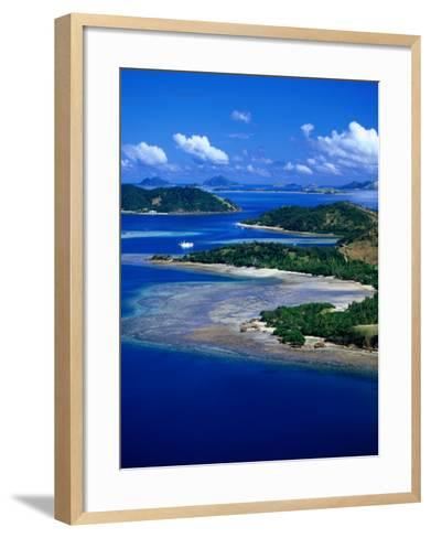 Aerial View of Malolo Island, Fiji-David Wall-Framed Art Print