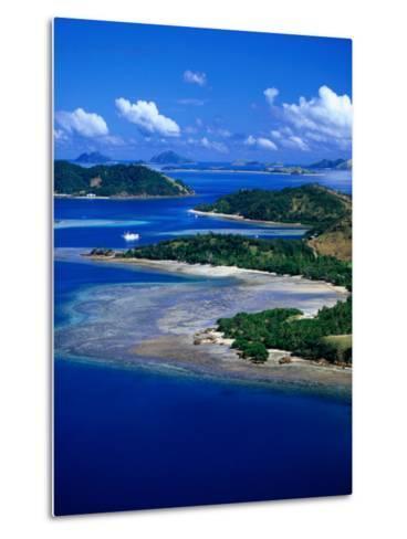 Aerial View of Malolo Island, Fiji-David Wall-Metal Print