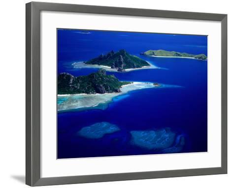 Aerial View of Islands, Fiji-David Wall-Framed Art Print