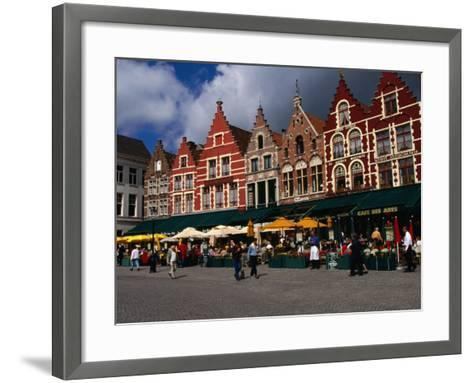 The Central Square in Brugges, Belgium-Doug McKinlay-Framed Art Print