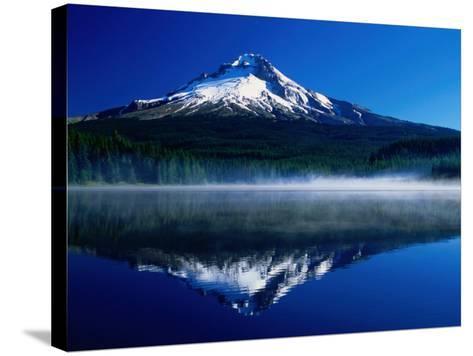 Mt. Hood Over Trilium Lake, Mt. Hood, USA-John Elk III-Stretched Canvas Print