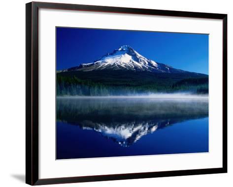 Mt. Hood Over Trilium Lake, Mt. Hood, USA-John Elk III-Framed Art Print